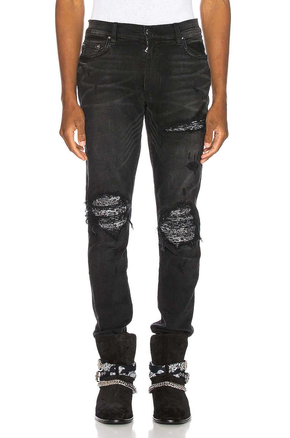 Image 1 of Amiri MX1 Bandana Jean in Aged Black