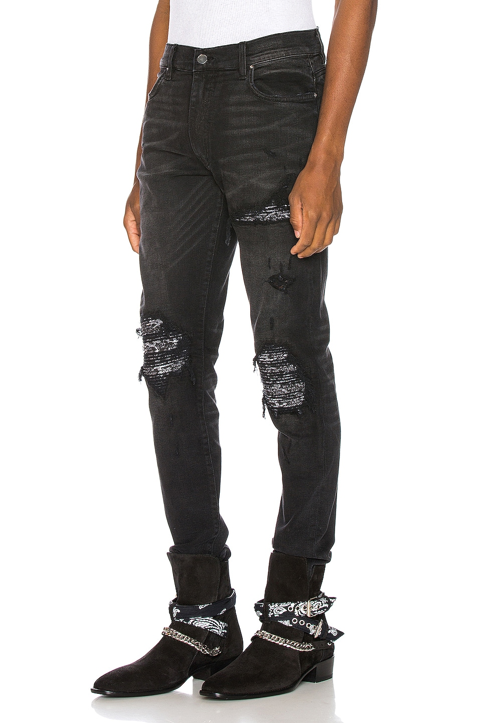 Image 3 of Amiri MX1 Bandana Jean in Aged Black