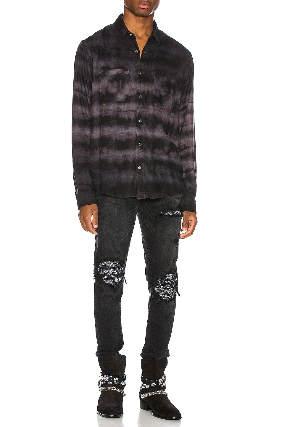 Image 5 of Amiri MX1 Bandana Jean in Aged Black