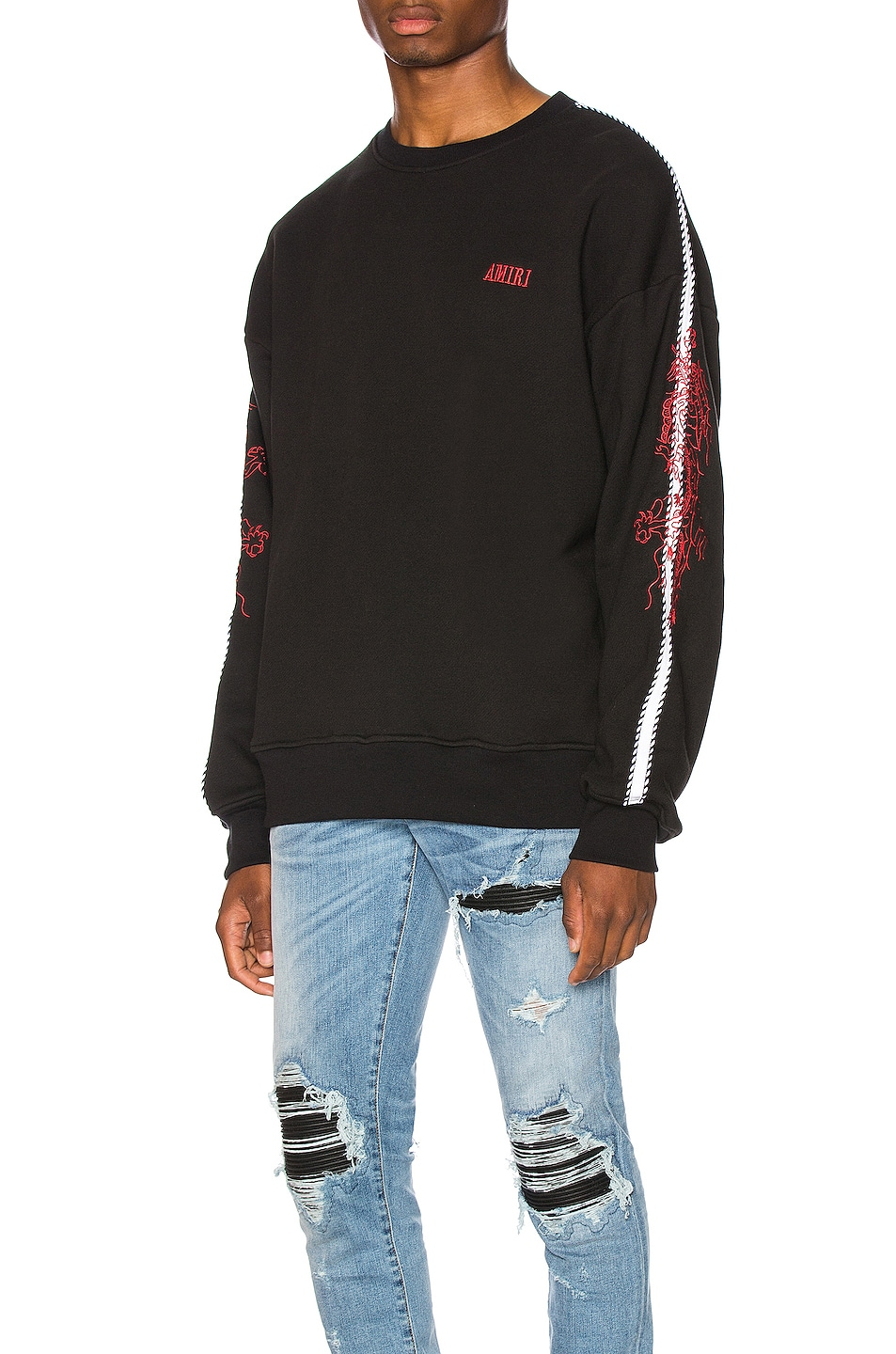 Amiri Accessories Dragon Outline Crewneck