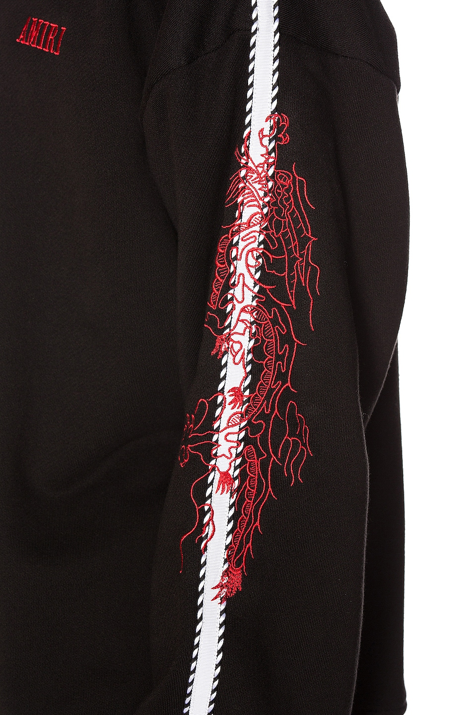 Image 6 of Amiri Dragon Outline Crewneck in Tar
