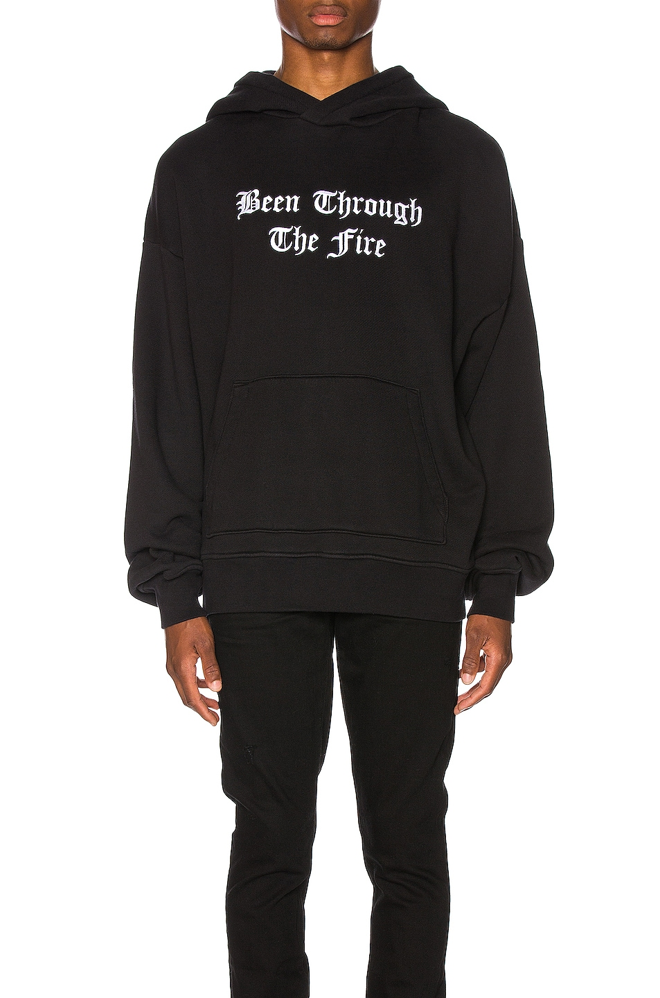 Image 1 of Amiri Been Through The Fire Hoodie in Tar