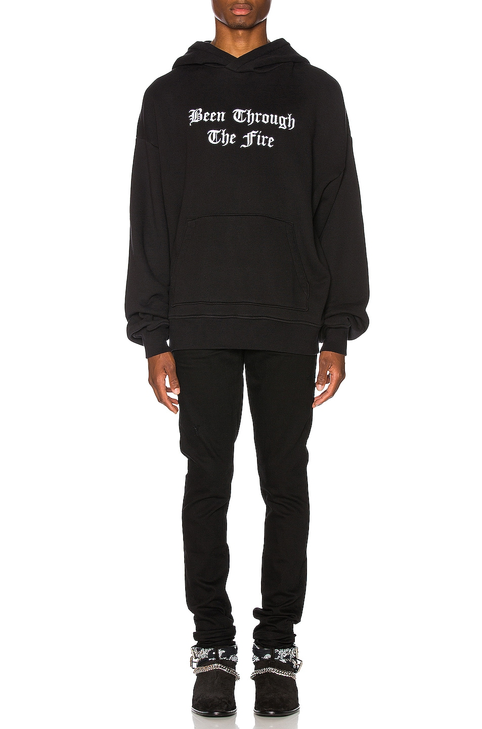 Image 4 of Amiri Been Through The Fire Hoodie in Tar