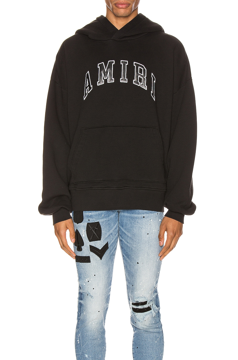 Image 1 of Amiri College Hoodie in Black