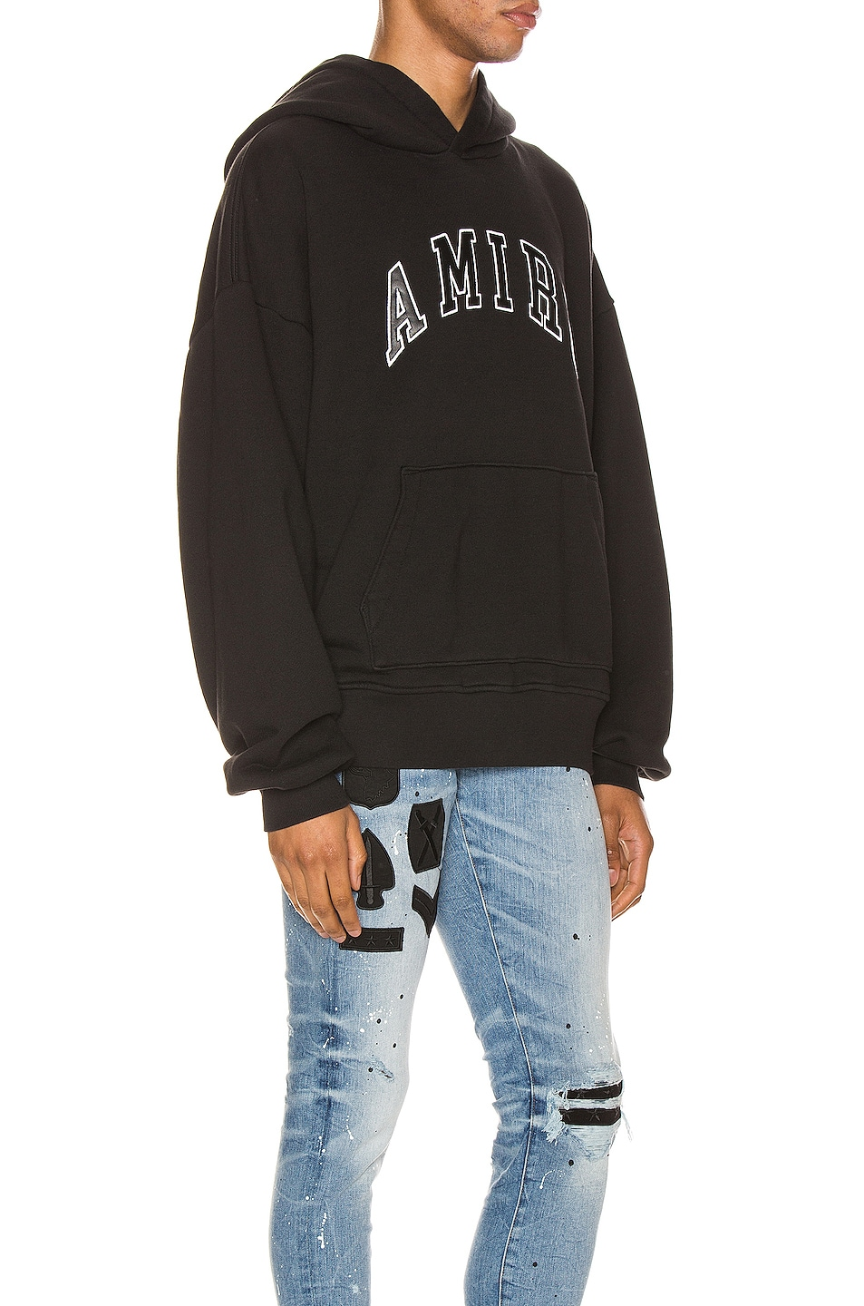 Image 2 of Amiri College Hoodie in Black