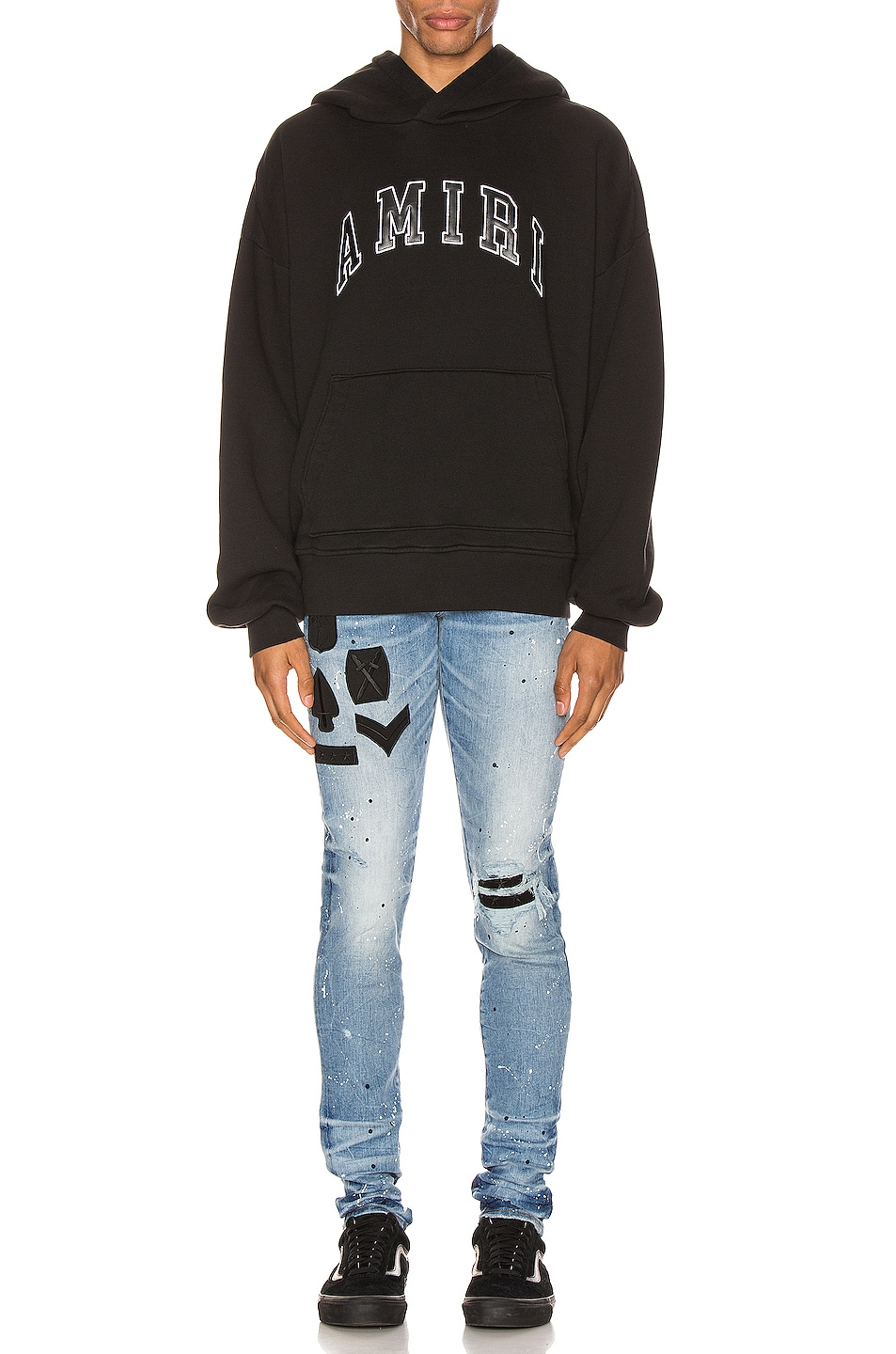 Image 4 of Amiri College Hoodie in Black