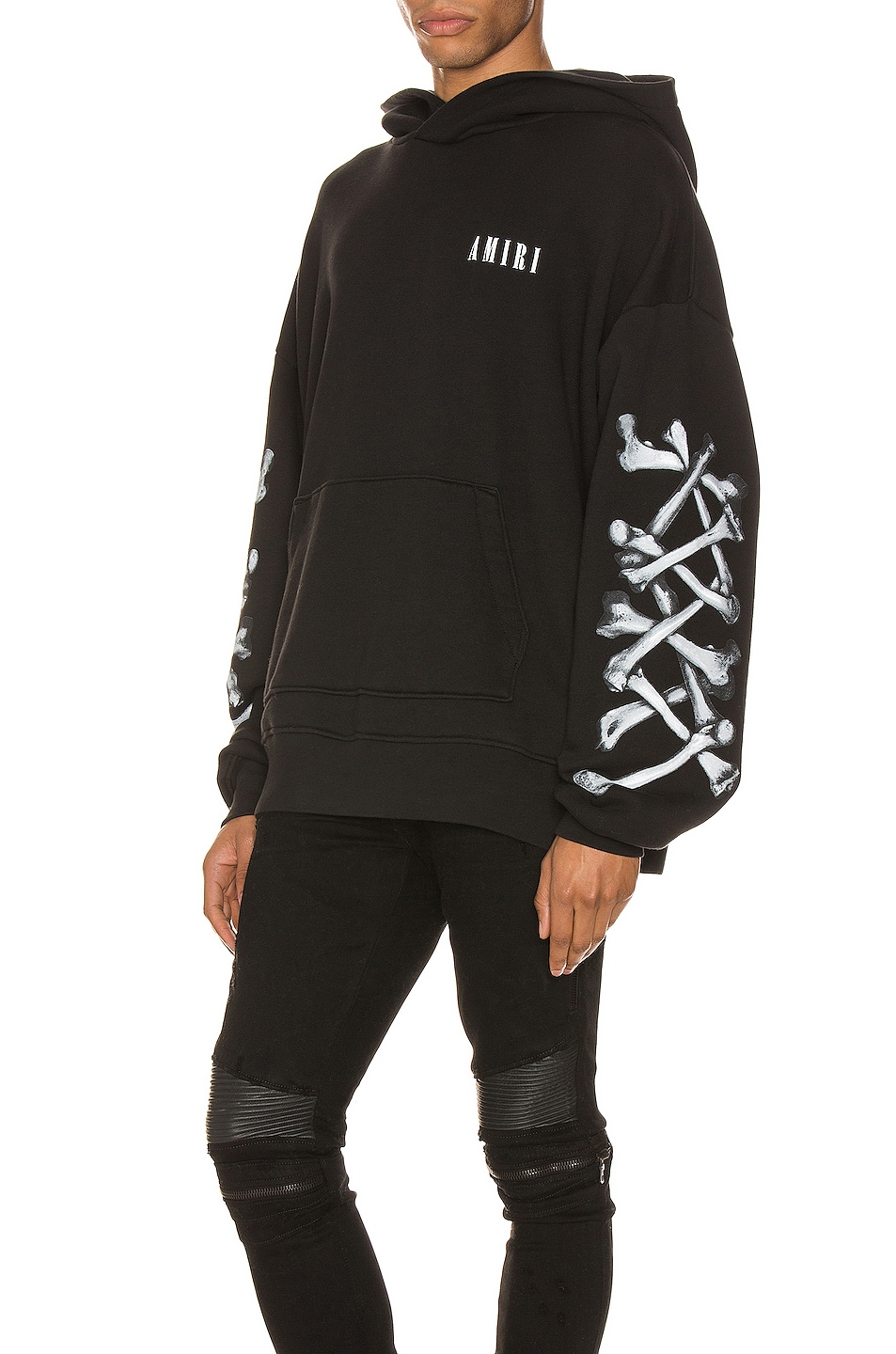 Image 1 of Amiri Bones Hoodie in Black & White