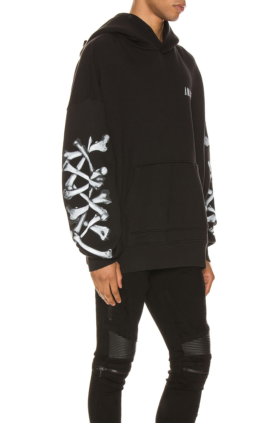 Image 3 of Amiri Bones Hoodie in Black & White