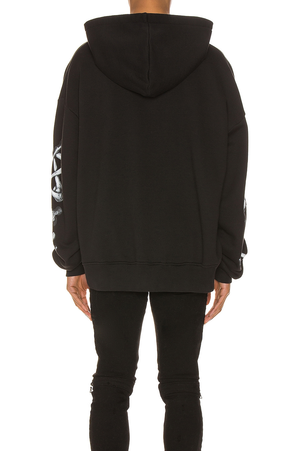 Image 4 of Amiri Bones Hoodie in Black & White