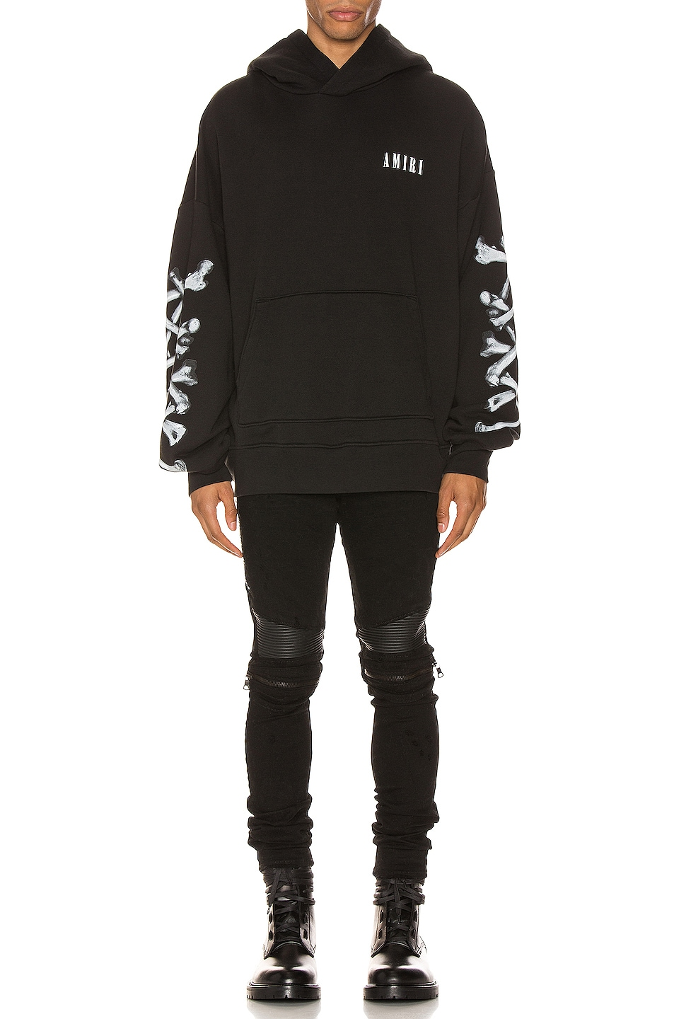 Image 5 of Amiri Bones Hoodie in Black & White