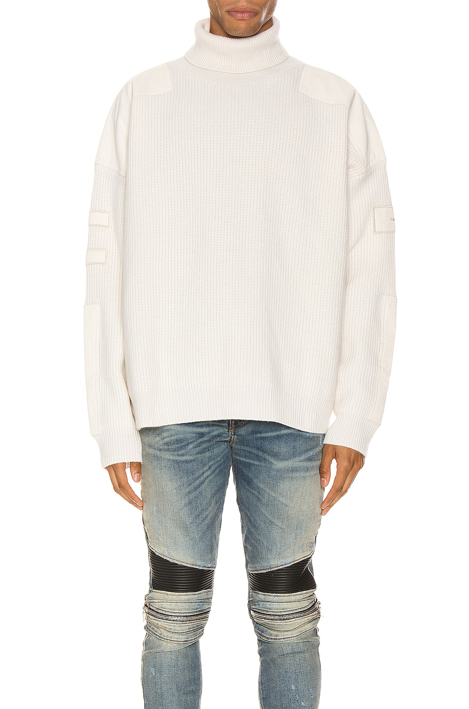 Amiri Tops Military Patch Turtleneck