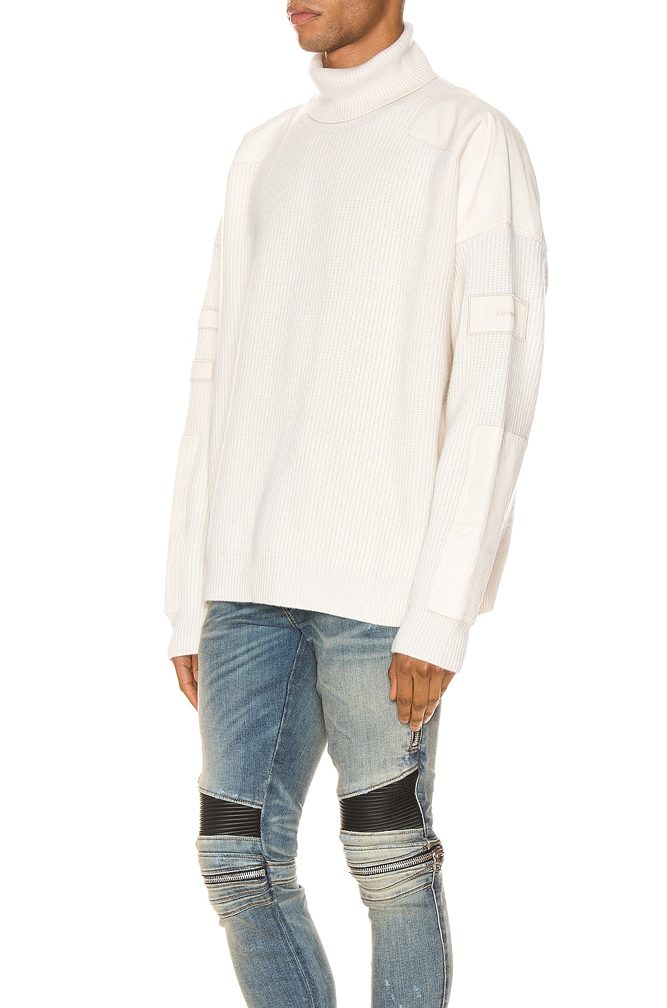 Image 3 of Amiri Military Patch Turtleneck in White