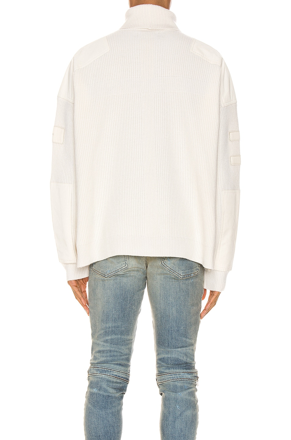 Image 4 of Amiri Military Patch Turtleneck in White