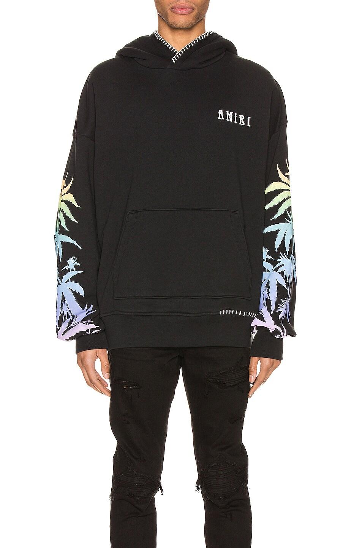 Image 1 of Amiri Oversized Eternal Happiness Hoodie in Black