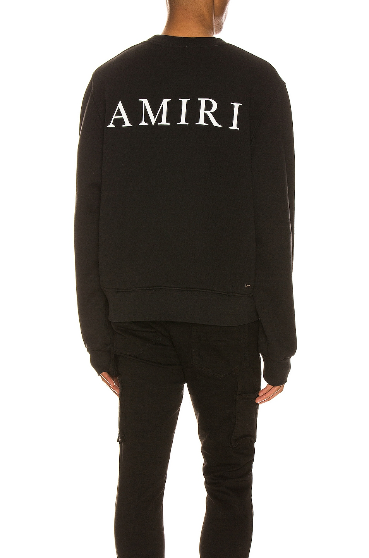Image 1 of Amiri Large AMIRI Logo Crew in Black