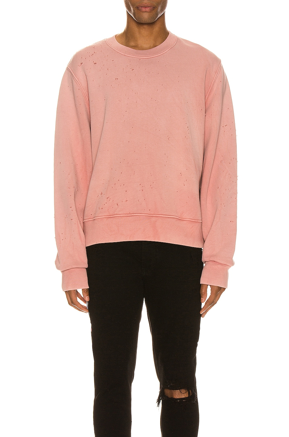 Image 1 of Amiri Washed Shotgun Crew in Peach