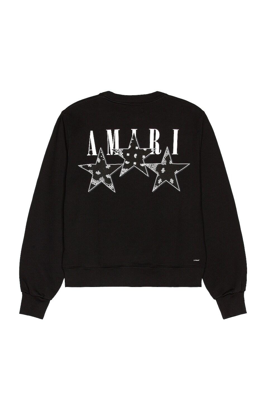 Image 1 of Amiri Bandana Stars Crewneck Sweatshirt in Black