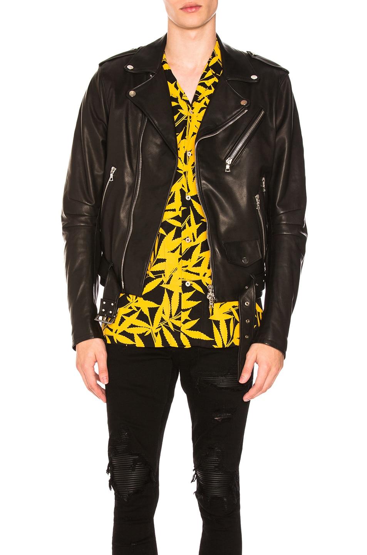 Black Nubuck Biker Jacket