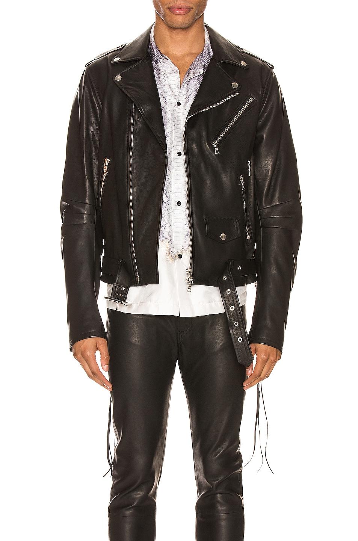 Image 1 of Amiri Lightweight Biker Jacket in Black