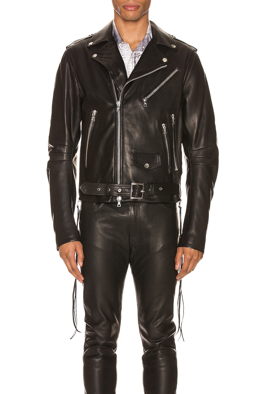 Image 2 of Amiri Lightweight Biker Jacket in Black