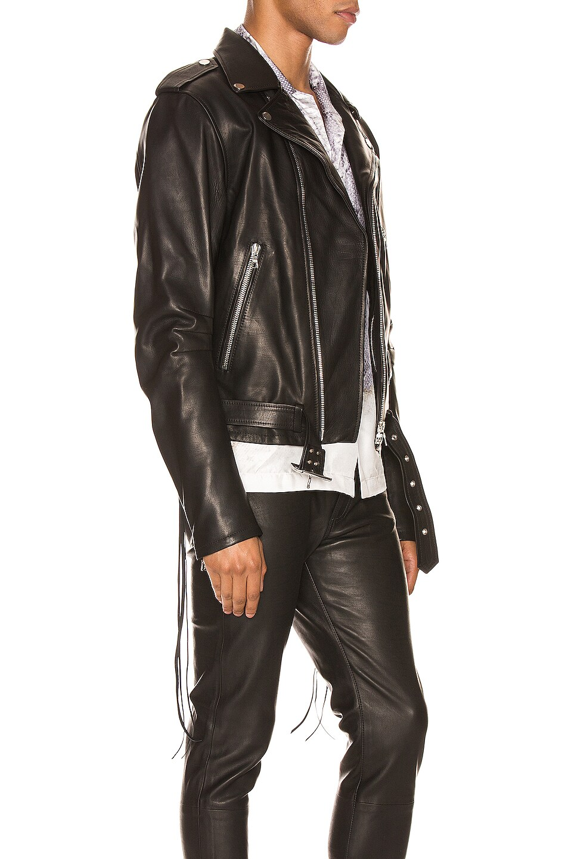 Image 3 of Amiri Lightweight Biker Jacket in Black