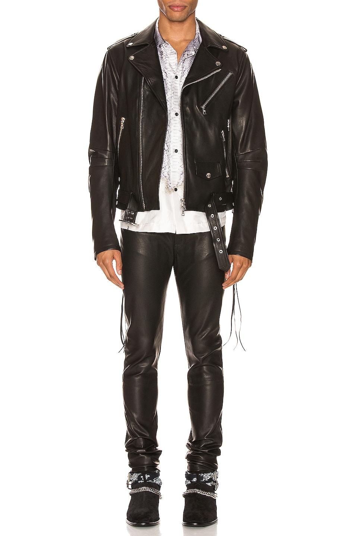 Image 5 of Amiri Lightweight Biker Jacket in Black