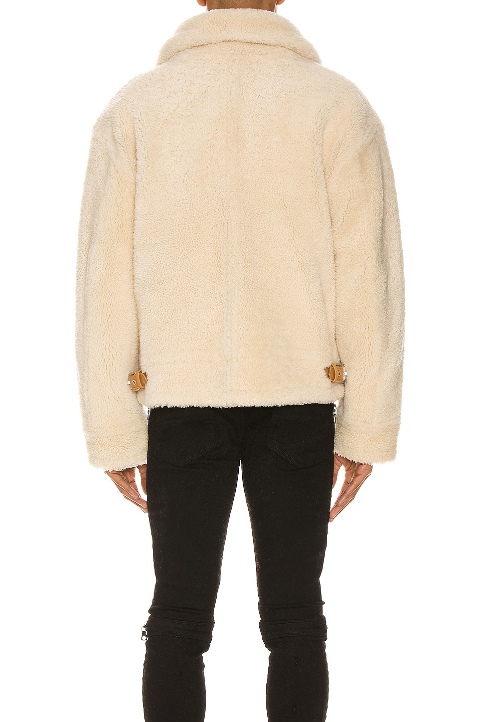 Image 4 of Amiri Oversized Shearling Jacket in Natural