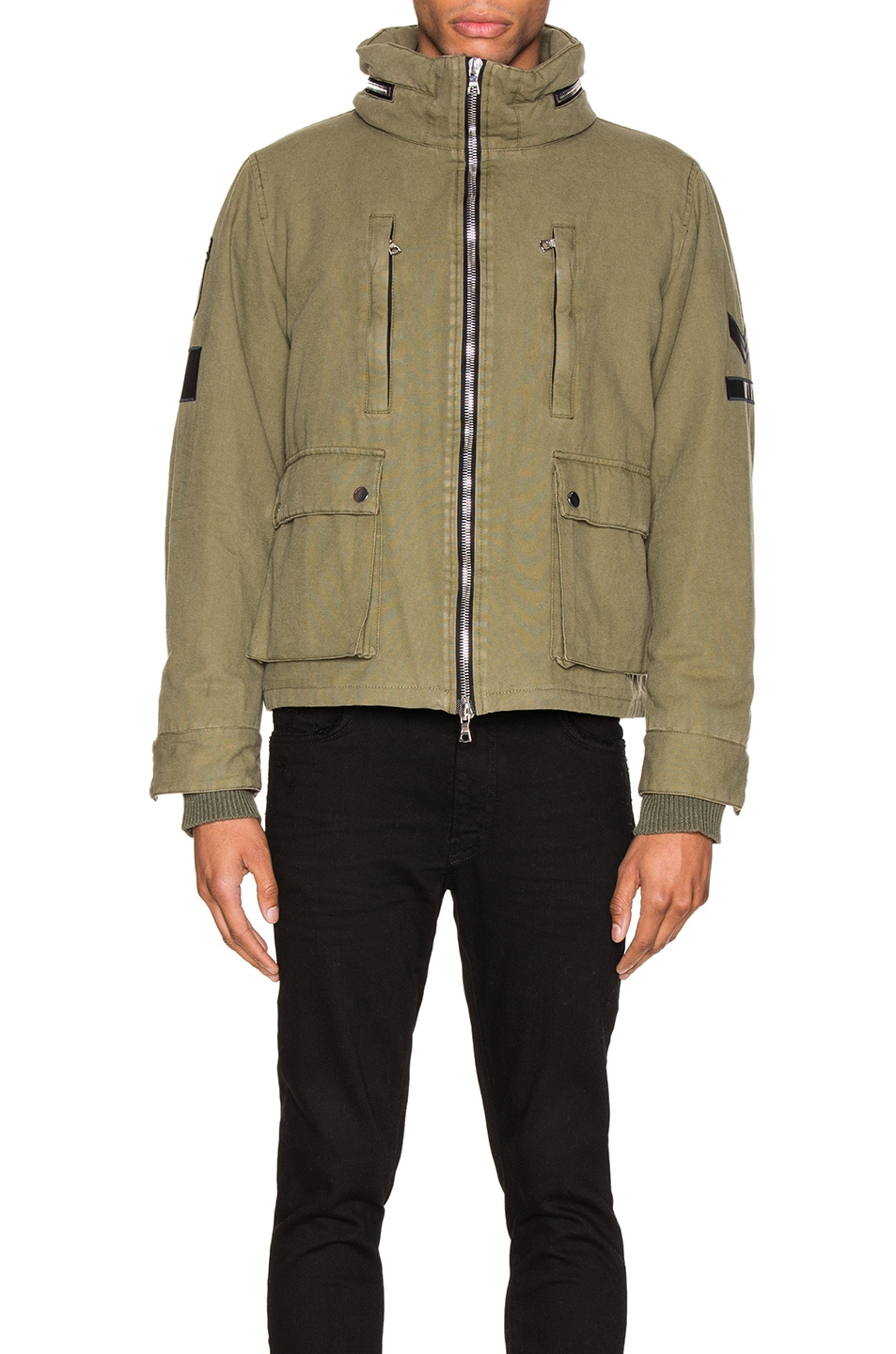 Image 3 of Amiri Military Stand Collar Jacket in Green
