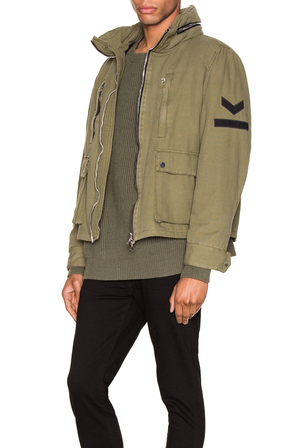 Image 5 of Amiri Military Stand Collar Jacket in Green