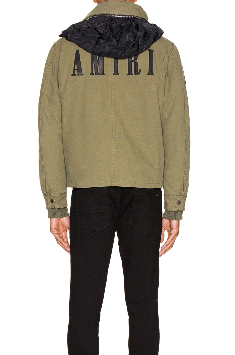 Image 6 of Amiri Military Stand Collar Jacket in Green