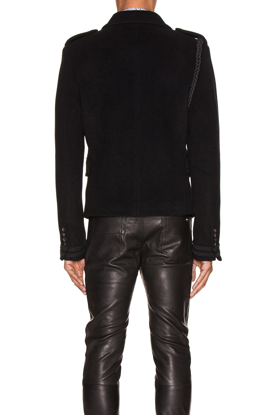 Image 5 of Amiri Double Breasted Corded Short Coat in Black