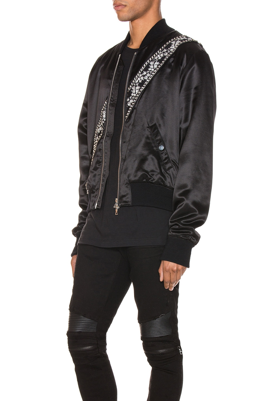 Image 4 of Amiri Guitar Strap Bomber Jacket in Black