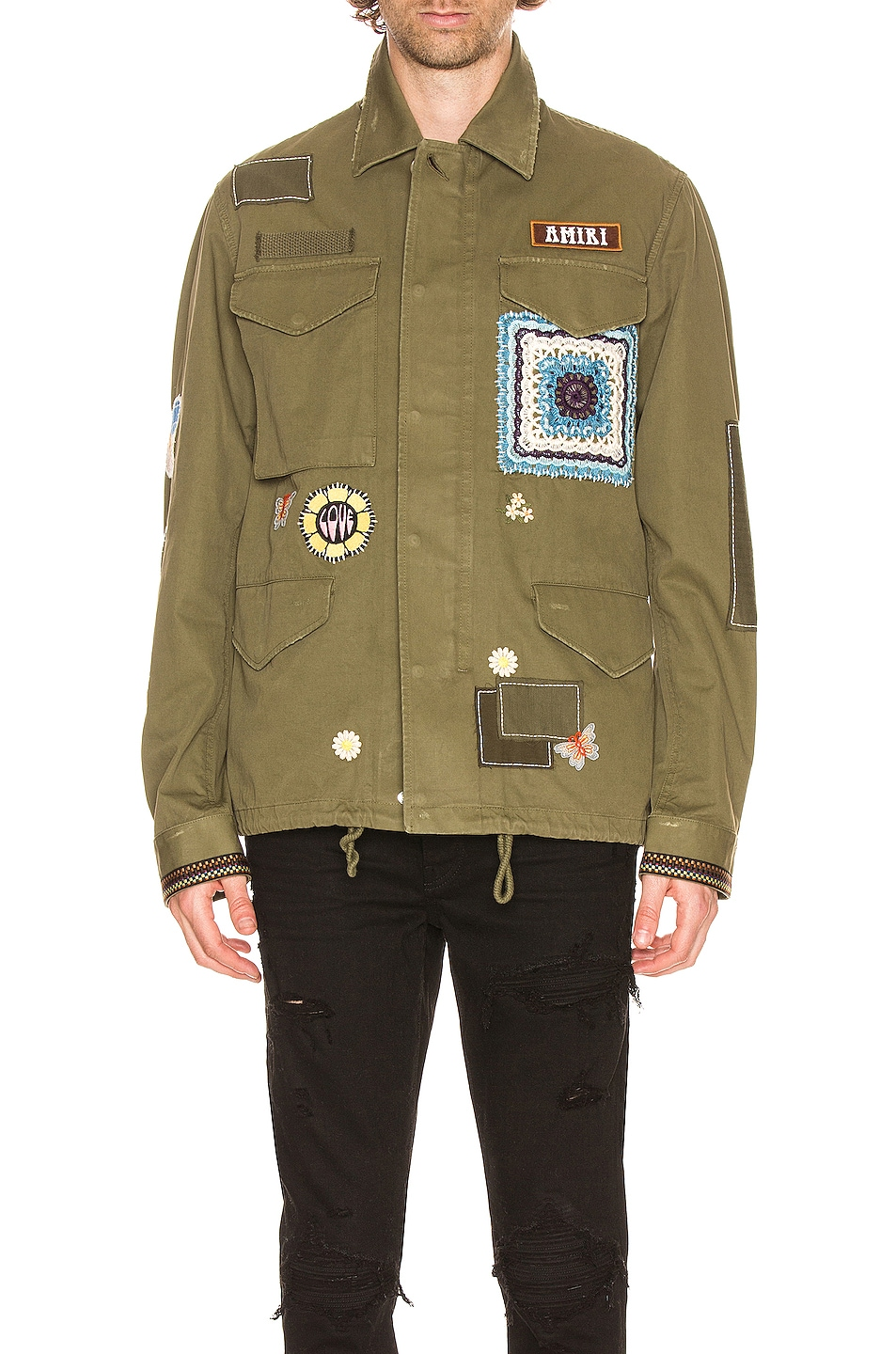 Image 1 of Amiri BROTHER Military Short Parka in Military Green