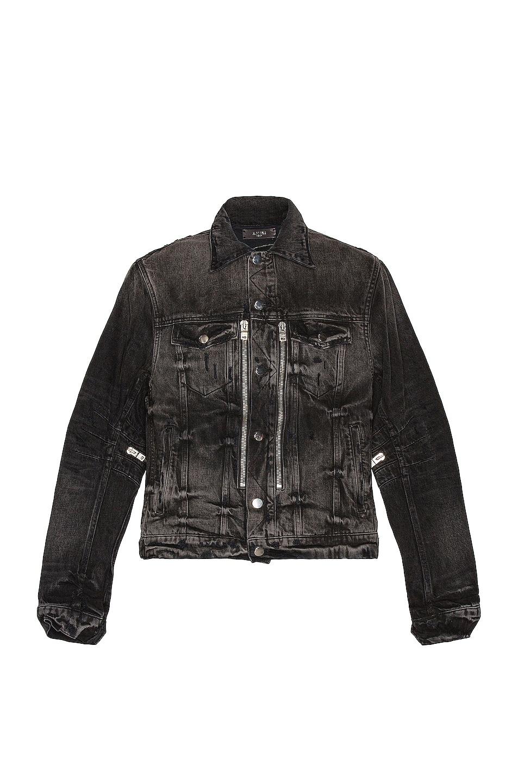 Image 1 of Amiri Bandana MX2 Trucker Jacket in Aged Black