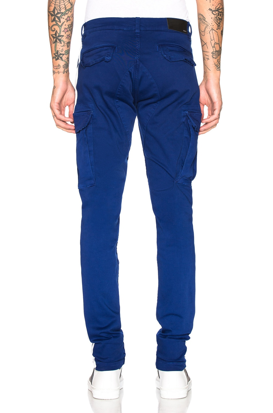 Image 4 of Amiri Stack Track Cargo Pants in Royal Blue