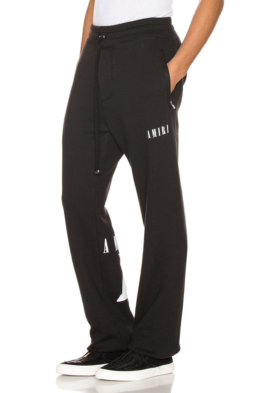 Image 1 of Amiri Dagger Sweatpants in Black