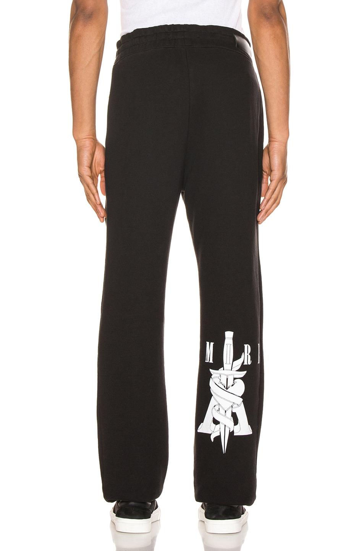 Image 4 of Amiri Dagger Sweatpants in Black