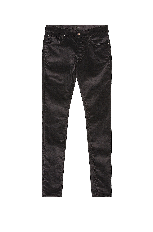 Image 1 of Amiri Velvet Stack Pants in Black
