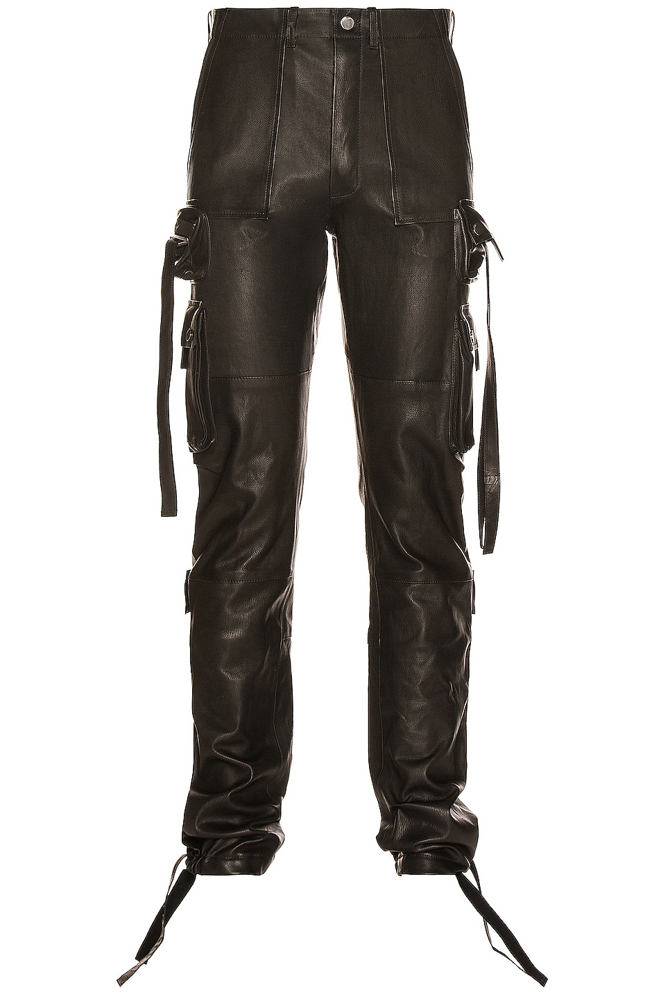 Image 1 of Amiri Leather Tactical Pant in Black