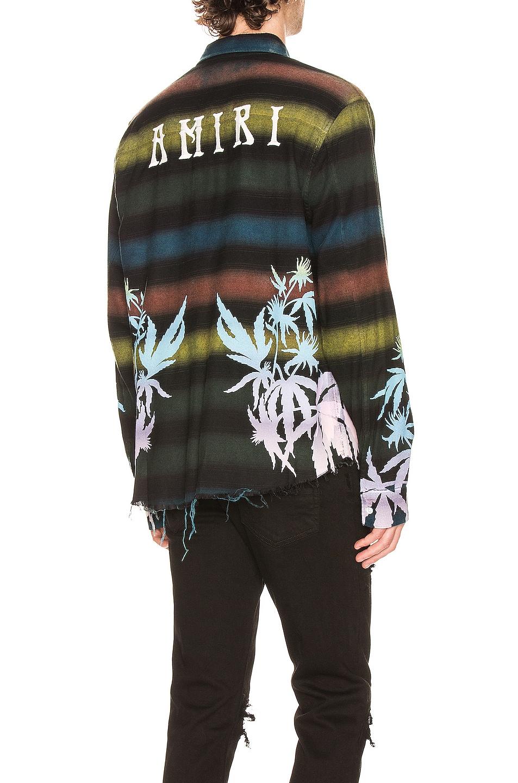 Image 1 of Amiri AMIRI Printed Leaves Horizontal Flannel in Multi