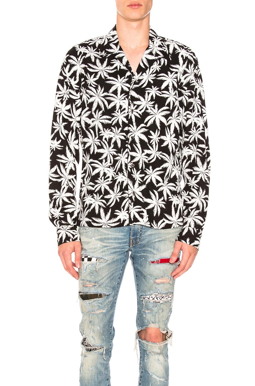 Image 1 of Amiri Palm Print Shirt in Black & White