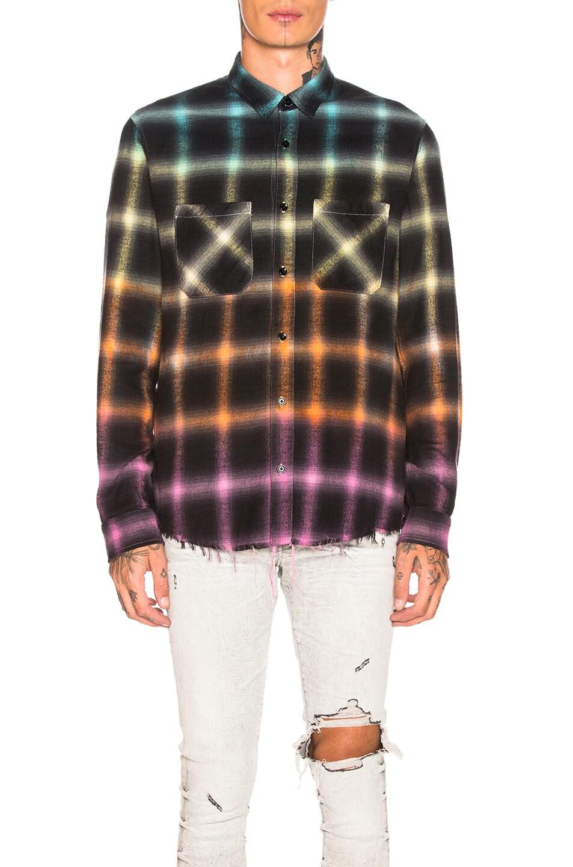 Amiri T-shirts Ombre Plaid Shirt