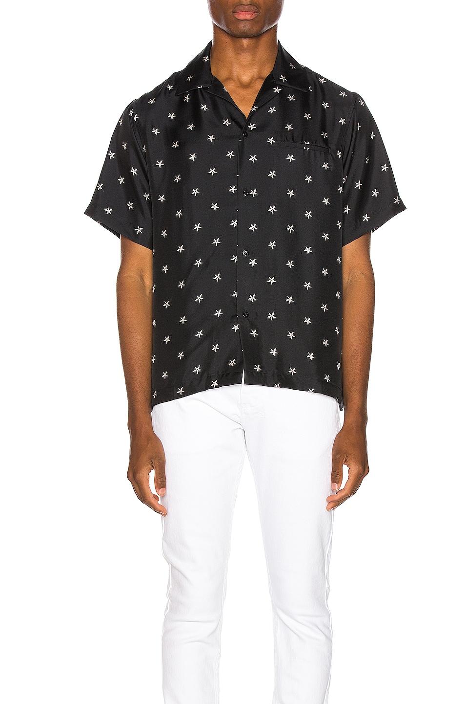 Image 1 of Amiri Star Short Sleeve Shirt in Tar