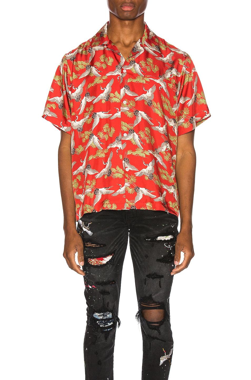 Amiri T-shirts Crane Short Sleeve Shirt