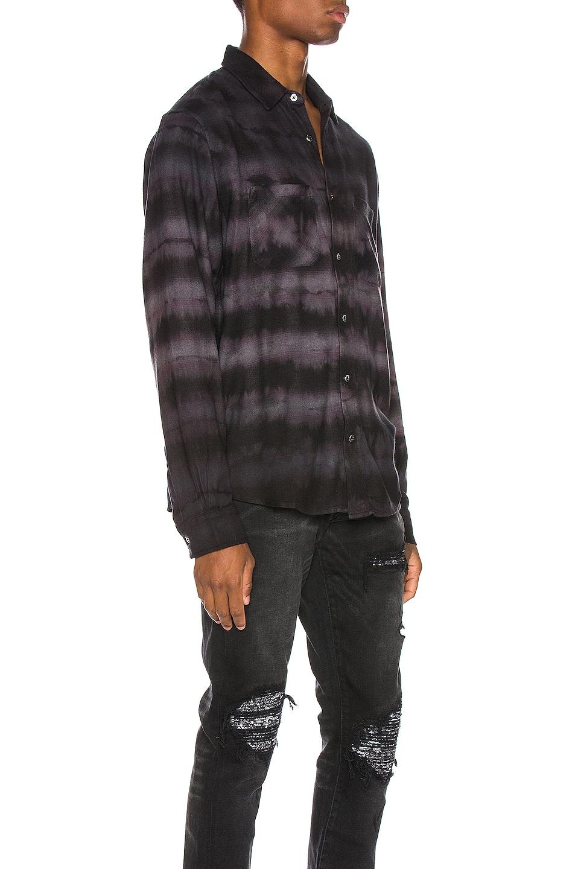 Image 2 of Amiri Tie Dye Shirt in Black & Grey