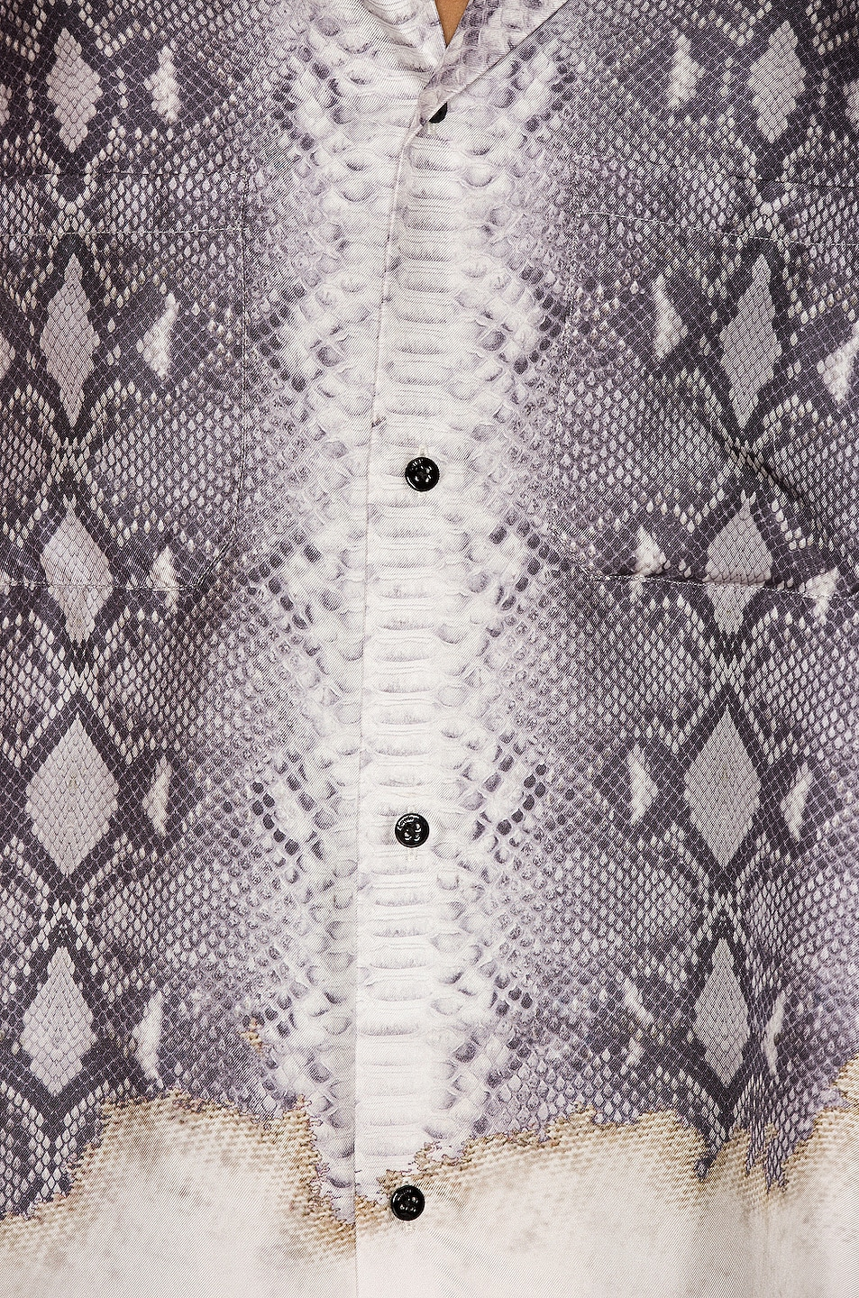 Image 5 of Amiri Python Short Sleeve Button Up in Grey