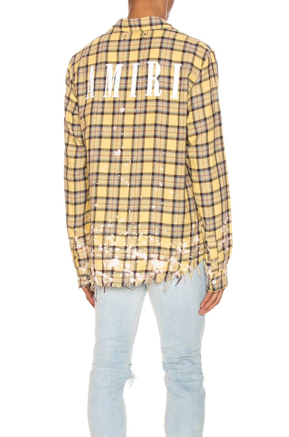 Amiri T-shirts Splatter Plaid Shirt