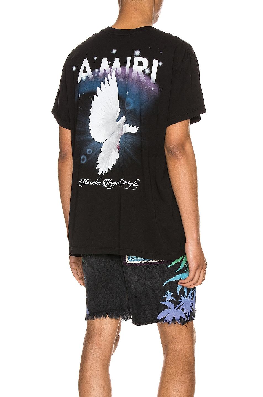 Image 1 of Amiri Rainbow Dove Tee in Black