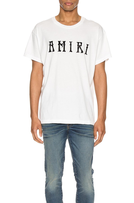 Image 1 of Amiri Hippie Tee in Ivory