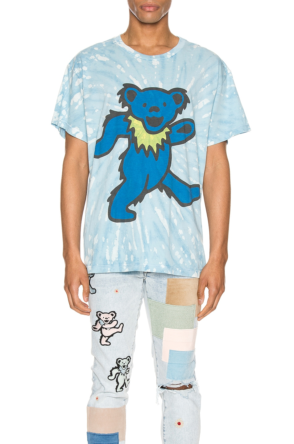 Image 1 of Amiri Grateful Dead Bear Tie Dye Tee in Cobalt